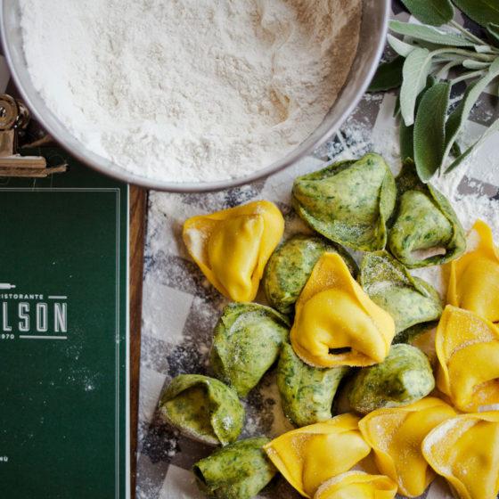 Varietà di tortelli verdi e zucca alla Vecchia Modena
